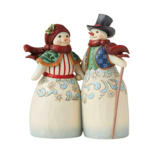 Jim Shore SNOWMAN COUPLE HOLDING HANDS-NEXT TO YOU IS THE WARMEST PLACE 6008920