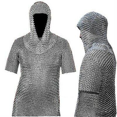 Museum Replica Chain Mail Armor Long Shirt and Coif