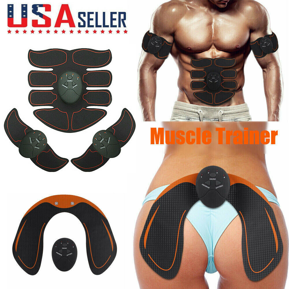 Electronic 6/8 Pads Abdominal Muscle Toner Abs Hip Trainer E