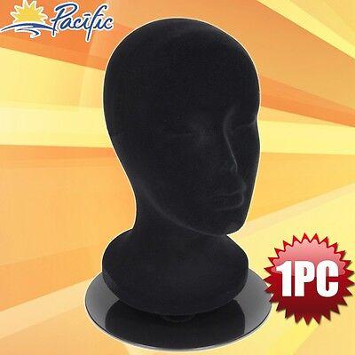 Female Foam Black Velvet Mannequin Head Holder Base Display Wig Hat Glasses 11