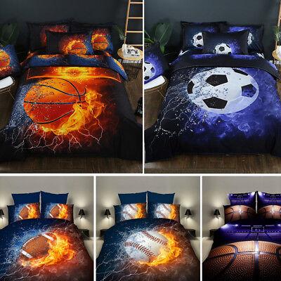 Football Bedding - 3D Football Basketball Bedding Set Soccer Duvet Cover Pillowcase Comforter Cover