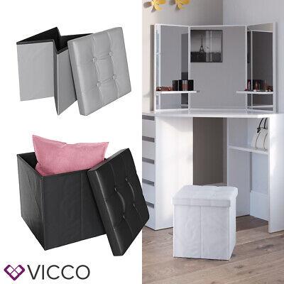 VICCO Sitzhocker Sitzwürfel Hocker Aufbewahrungsbox faltbar 38x38x38 cm (Würfel Aufbewahrung Möbel)