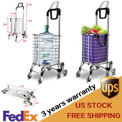 Urban Stair Climbing Cart 8 Wheels Folding Grocery Laundry Shopping Handcart Usa