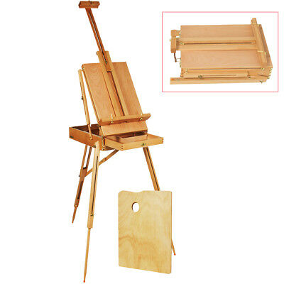 (French Easel Sketch Box Portable Tripod Display Art&Craft Artist Studio Painting)