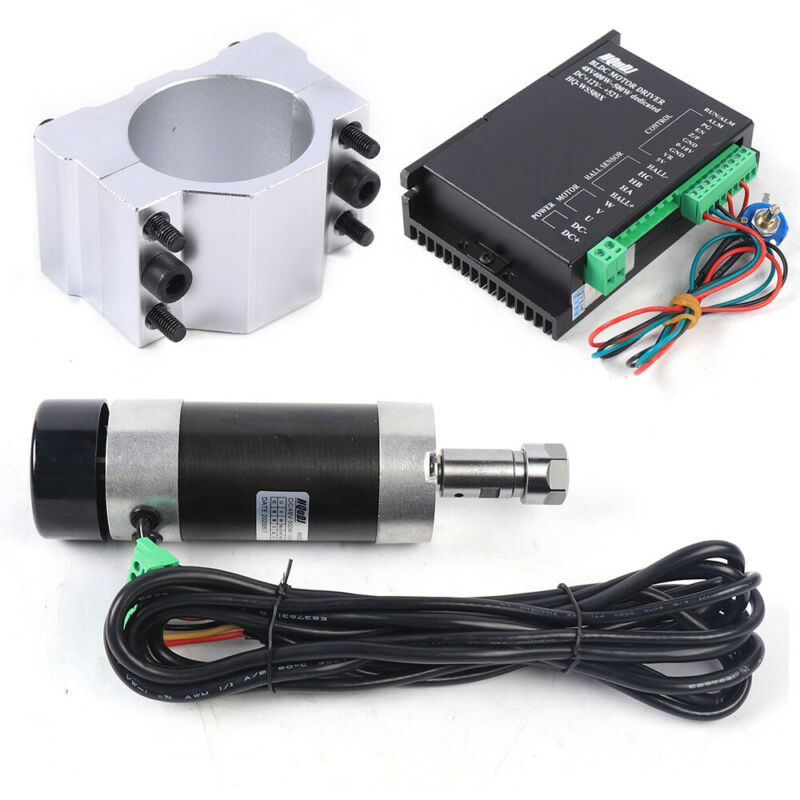 CNC Spindle 500W ER16 DC48V High Speed Air Cooled Brushless Spindle Motor NEW