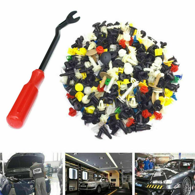 200Pcs Vehicle Car SUV Fastener Door Panel Bumper Push Pin Rivet Retainer Clips