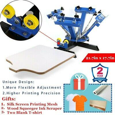 4 Color 1 Station Manual Screen Printing Press Silk Screening Pressing