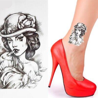 Einmal Tattoo Frau Temporary Tattoo Gesicht Aufkleber Temporäre Tattoos  L078 ()