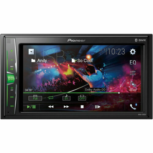 """Pioneer MVH-210EX 2-DIN 6.2"""" Touchscreen Car Stereo Multimedia Receiver"""