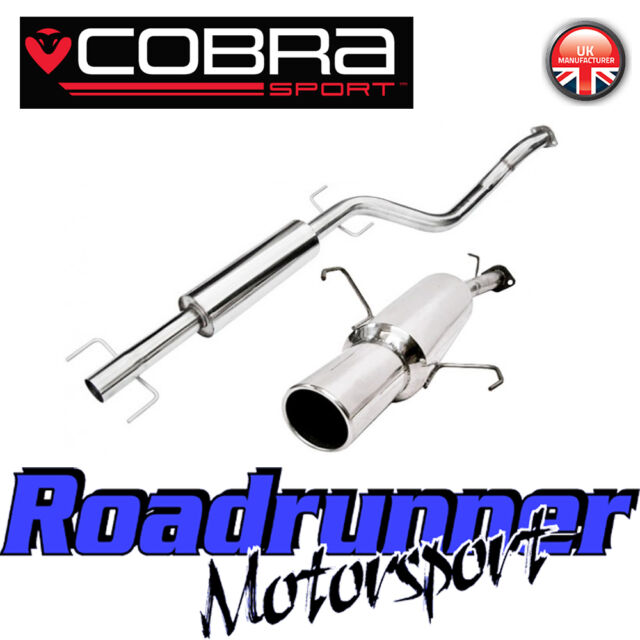 VC24 Cobra Sport Corsa C 1.2 & 1.4 (00-06) Stainless Exhaust System Resonated