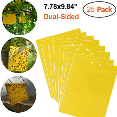 25-Pack Dual-Sided Yellow Sticky Traps for Flying Plant Insect Like Fungus Gnat