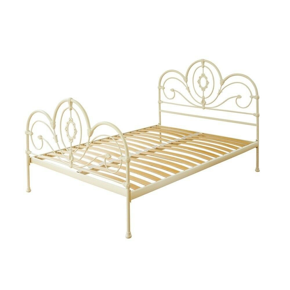 King size bed metal bed frame - Feather and Black/Laura Ashley design