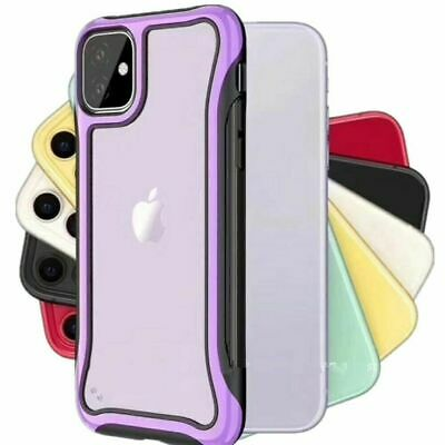 For iPhone 11 Pro Max XR 8 7 Plus Heavy Duty Bumper Shockproof Clear Case Cover