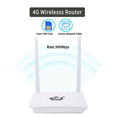 4G LTE Wireless Router 300Mbps Home Mobile WiFi Hotspot With/ SIM Card Slot