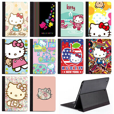 Hello Kitty Fan Lover Best Gift PU Leather Stand Case Cover For Apple iPad