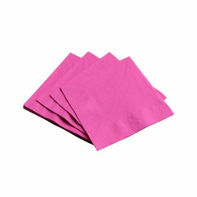 100 Hot Pink Paper Napkins Serviettes Birthday Wedding Party Catering 33cm 2ply