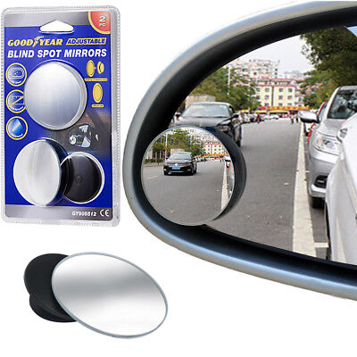Goodyear Blind Spot Stick On Mirrors Adjustable Protect Alloy Wheels Protector