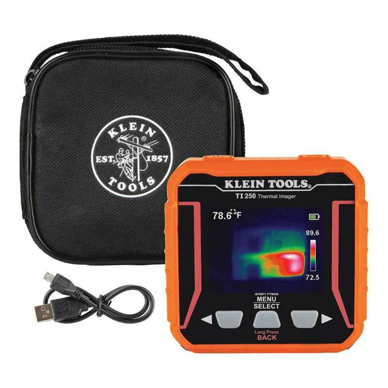 Klein TI250 Cordless Rechargeable Thermal Imager w/ Micro-USB Charging Cable