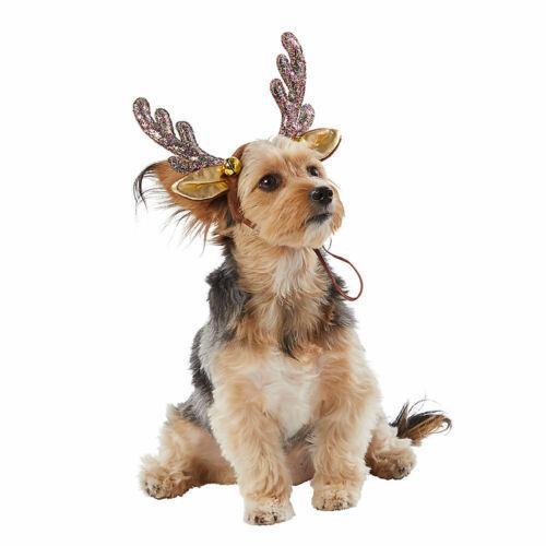NEW Merry & Bright Holiday Reindeer Pet dog Christmas costume perfect Headband