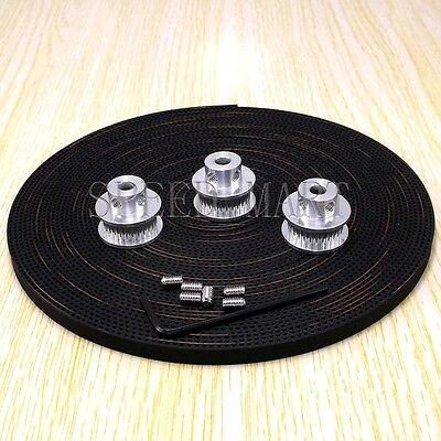 3 X Gt2 Timing Pulleys 28t 6mm Bore For Reprap Prusa Mendel 3d Printer 5m Belt