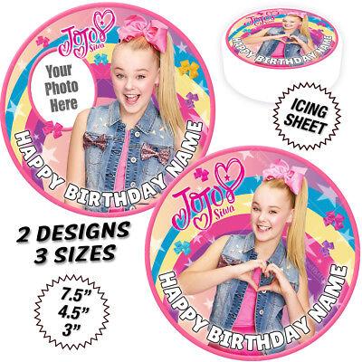 JoJo Siwa Cake Topper Round Circle Personalised Edible Icing Sheet