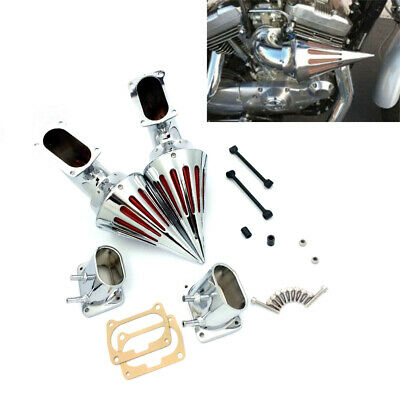 Chrome Motor Spike Air Cleaner Intake Filter For Suzuki Boulevard M109 All Years