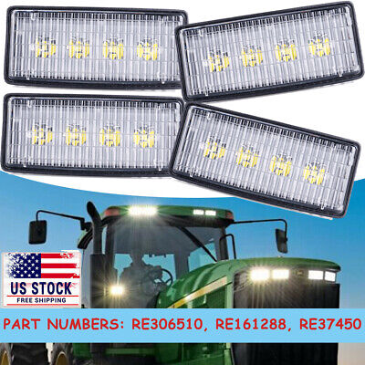 4pc Led Front Hood Light For John Deere 4055 4255 4455 4555 4755 4955 6000k
