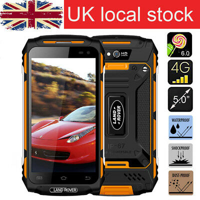 "NEW Smartphone LAND ROVER X2 Yellow 5"" Quad Core 4G Waterproof Rugged Cell phone"