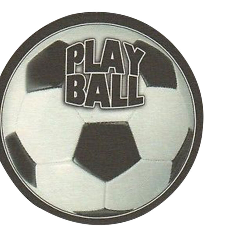 8 Absorbent Drink Coasters Play Ball Motif - Soccerball