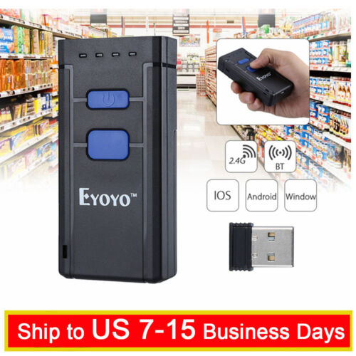 Eyoyo 1D Bluetooth 4.0 Handy Wireless Barcode Scanner Support Windows Android