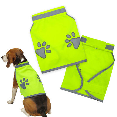 Reflective Dog Clothes Vest Coat Safety Gear Fluorescent Polyester For S-XL Dogs
