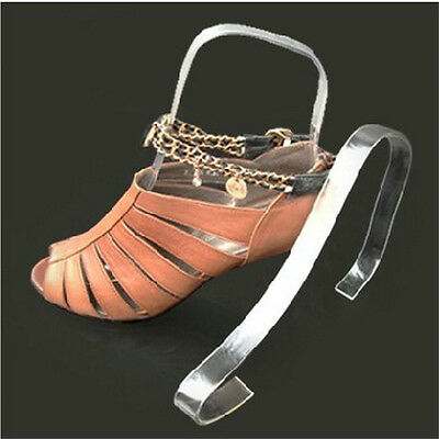 Women Clear Acrylic Plastic Sandal Lady Shoes Display Stand Inserts Holders