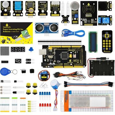 US Stock!UNO R3 Mega 2560 Relay LM35 DHT11 HC-SR04 Module Sensor Kit for Arduino