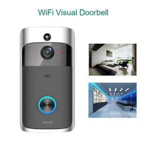 Wireless WiFi 720P DoorBell Visual Camera Intercom Door Bell Phone APP Control  sc 1 st  eBay & Wireless Doorbell Intercom | eBay