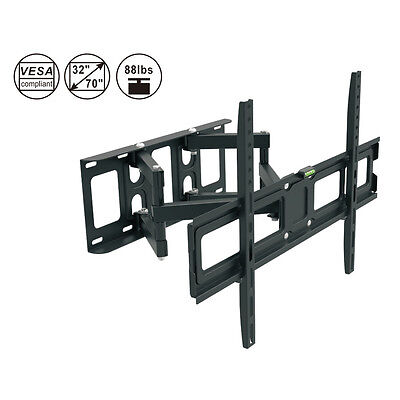 Full Motion LCD LED Plasma Flat TV Wall Mount Bracket 32 37 42 52 60 65 70