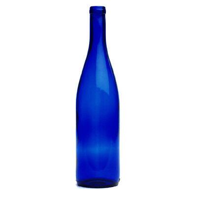 Hock Wine Bottles (750 Ml Cobalt Blue Hock  Wine Bottles, Cork Finish For Wine Making )