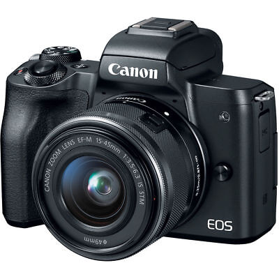Canon EOS M50 Mirrorless Digital Camera with 15-45mm Lens (Black) 2680C011