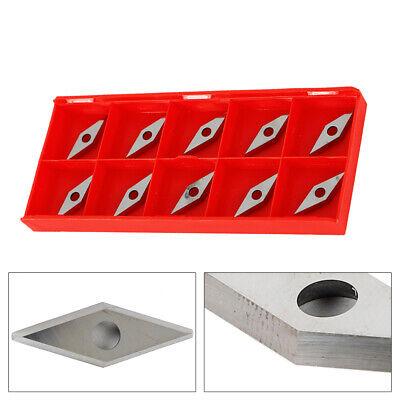 Carbide Inserts Diamond Shape Hard Alloy Blade Woodworking Turning Tool 10pc Set