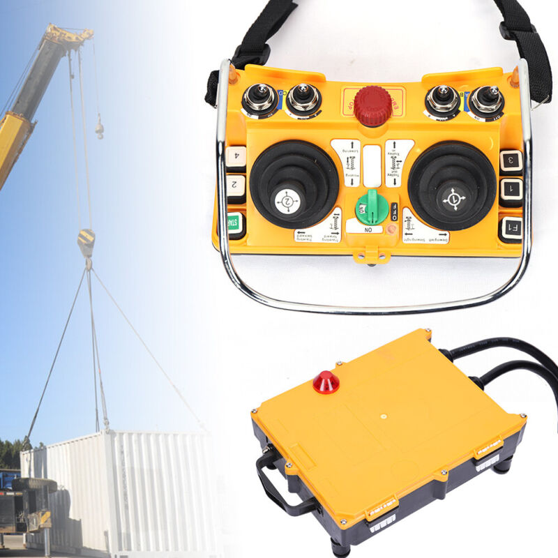 NEW Transmitter Receiver Industria Remote Control Wireless Joystick Crane F24-60