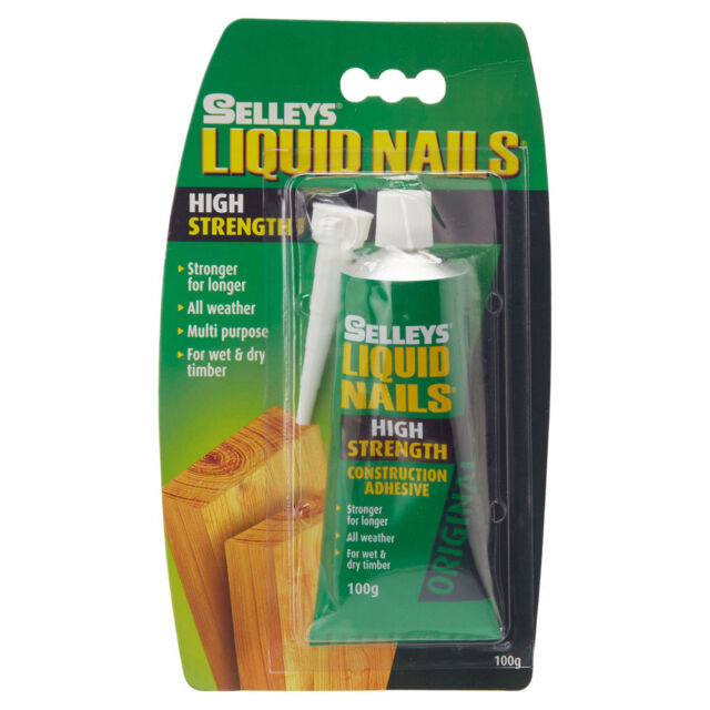 Selleys LIQUID NAILS CONSTRUCTION ADHESIVE Multi-Purpose High Strength Bond 100g