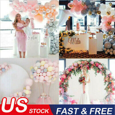 USA Balloon Arch Frame Kit Column Water Base Stand Wedding Birthday Party Decor! - Decorative Arch