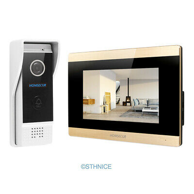 HOMSECUR Video Door Phone Intercom System with IR Night Vision for House/ Flat Video Door Phone Night Vision