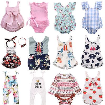 Hot Newborn Infant Baby Girls Romper Bodysuit Jumpsuit Sunsuit Clothes - Hot Outfits