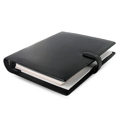 Filofax A5 Finsbury Organiser Planner Notebook Diary Book Black Leather Gifts 2