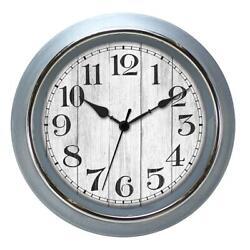 Farmhouse Dial Wall Clock 15 Inch Arabic Numerals Black Hands Home Room Decor