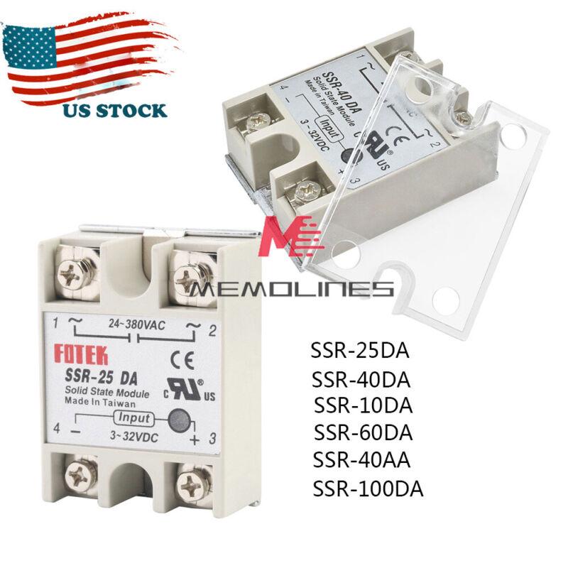 25A/40A/50A SSR-25DA/40DA/50DA Fotek Solid State Relay Module Alloy Heat Sink