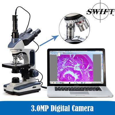Swift Pro Lab Trinocular Biological Microscope With Digital Eyepiece Cam