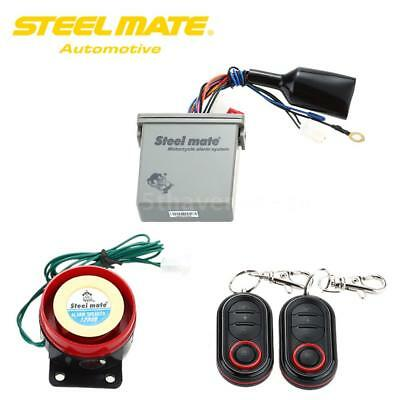 Steelmate 986E 1 Way Anti-theft Motorcycle Alarm System Remote Engine Start Z9A6