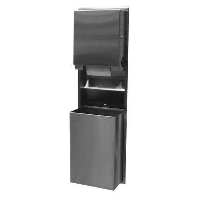 Bobrick B-39617 Recessed Convertible Paper Towel Dispenserwaste Receptacle