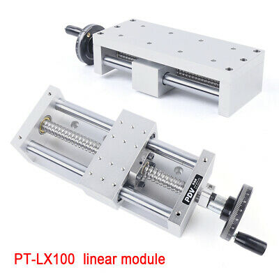 130mm Stroke Manual Sliding Table Ball Screw Linear Stage Cnc Slide Sfu1605 Fast
